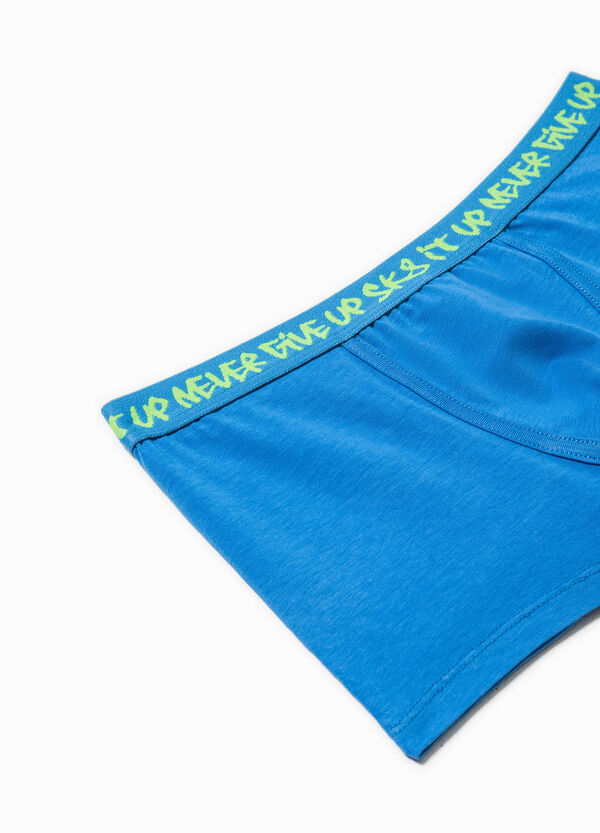 Stretch boxer shorts with lettering print | OVS