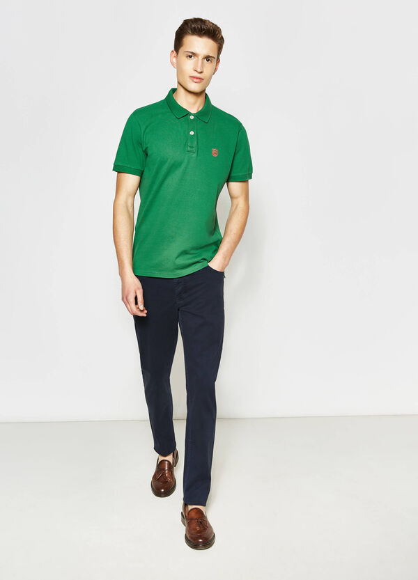 Polo shirt in 100% cotton with embroidery   OVS