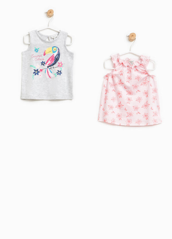 Two-pair pack patterned and printed top | OVS