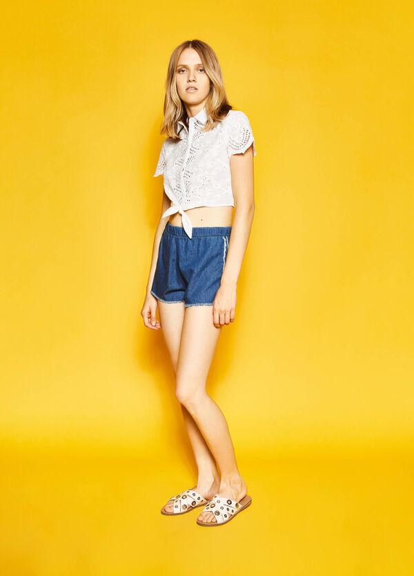 Shorts vaqueros con cintura elástica | OVS