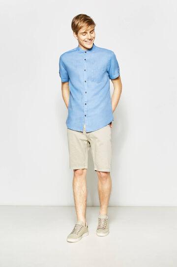 Slim fit, stretch cotton Bermuda shorts
