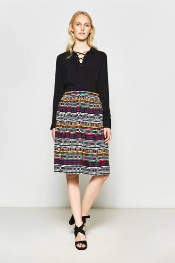 100% cotton longuette skirt