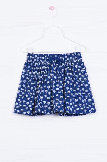 Palm tree skirt, Blue, hi-res
