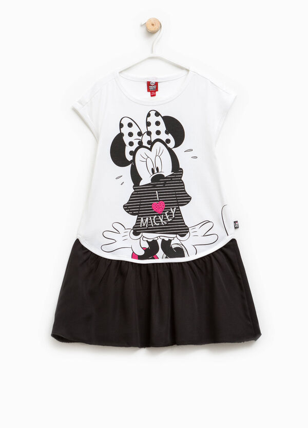 Vestitino in cotone con stampa Minnie | OVS