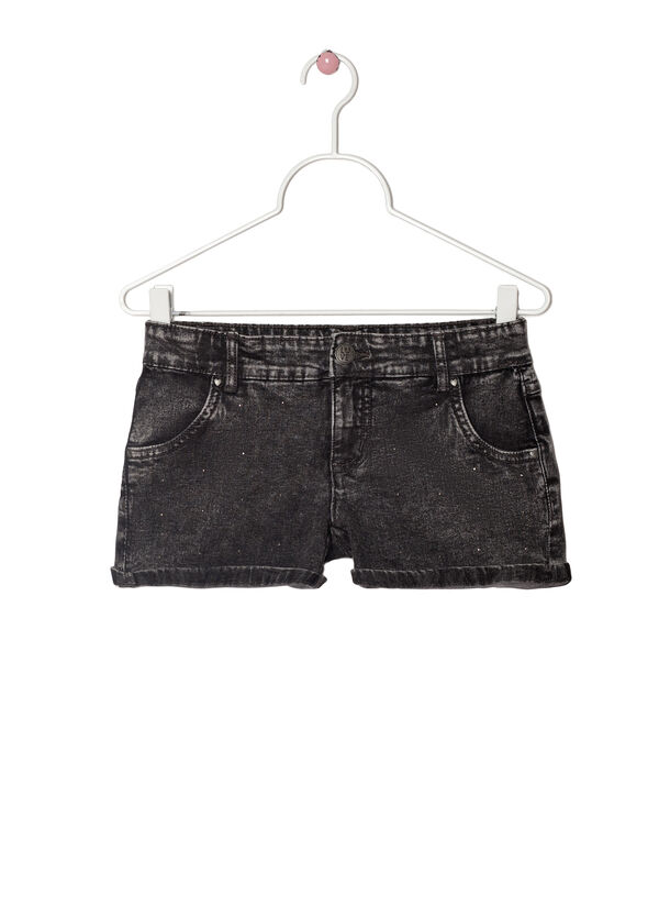 Stretch faded denim shorts | OVS