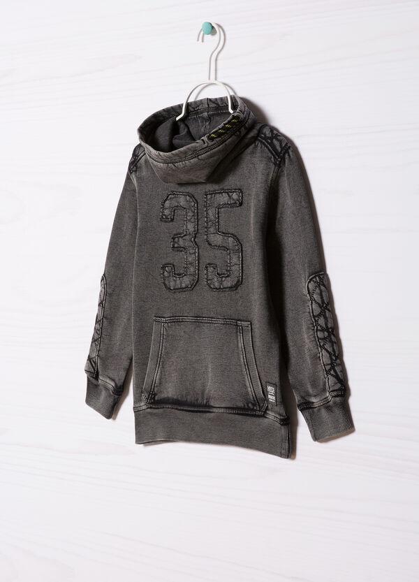 Cotton sweatshirt with high neck. | OVS