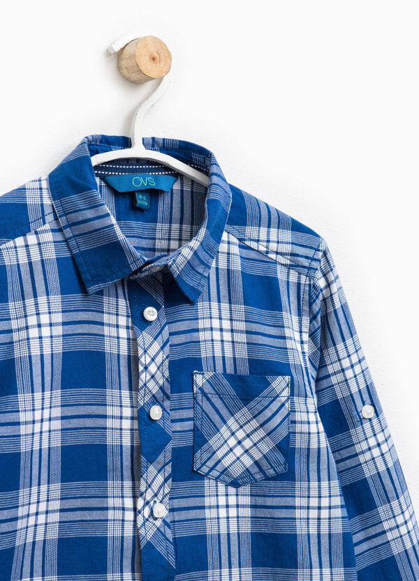 100% cotton tartan shirt | OVS