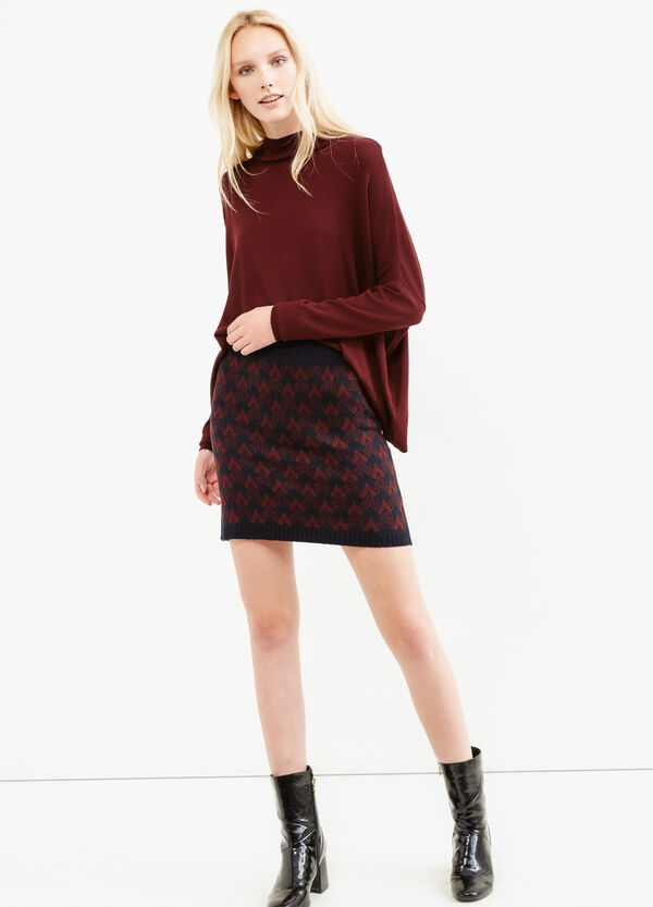 Knitted and patterned pencil skirt | OVS