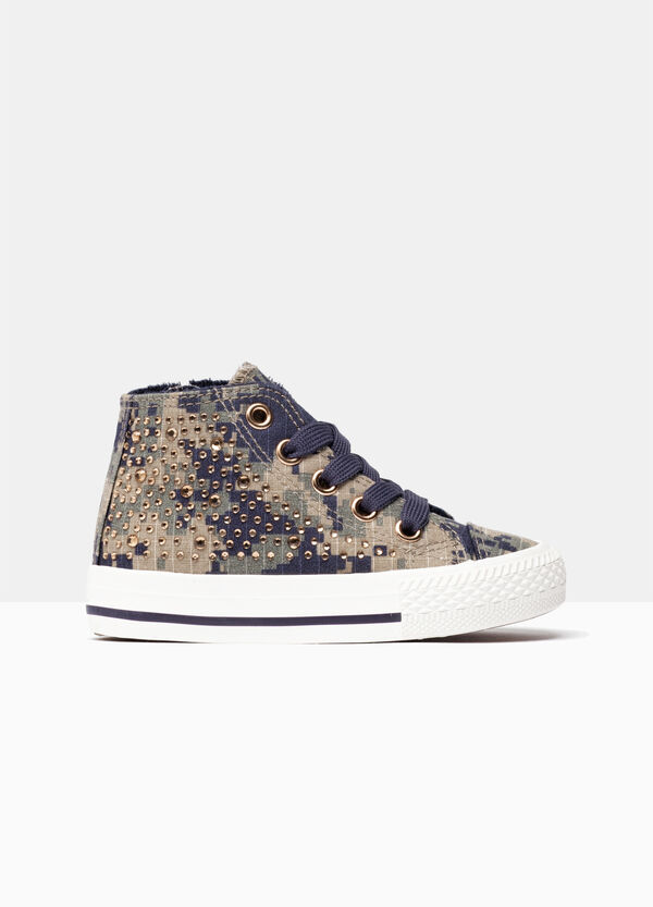 High-top sneakers with micro studs | OVS
