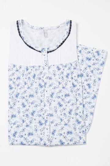 Camicia da notte cotone Curvy, Bianco, hi-res