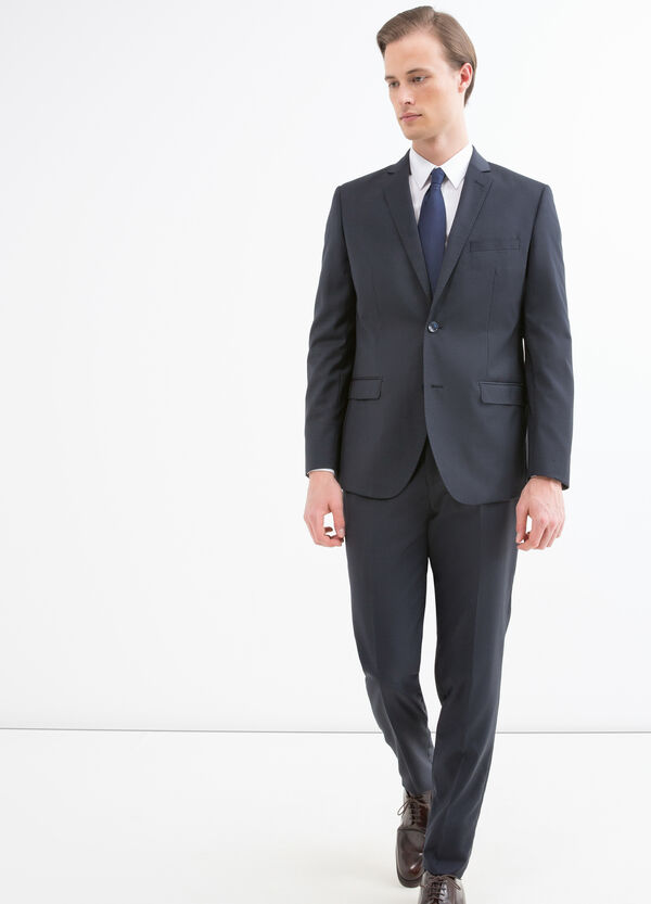 Elegant, slim-fit, pure wool suit | OVS