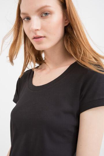 T-shirt puro cotone tinta unita
