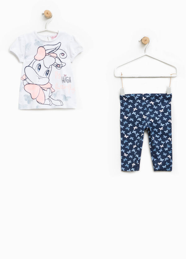 Baby Lola Bunny stretch T-shirt and trousers outfit | OVS
