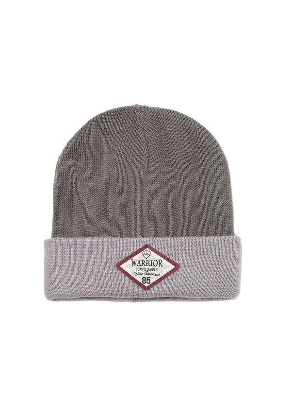 Ribbed beanie cap with brim | OVS