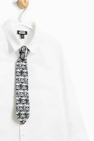 Shirt with Star Wars tie, Optical White, hi-res