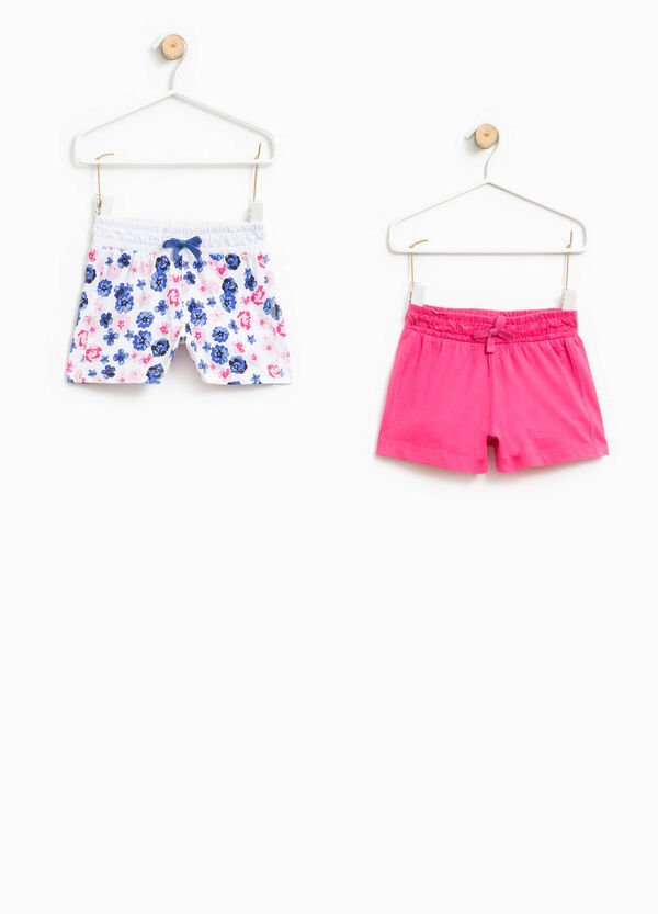 Set due shorts unito e fantasia floreale | OVS