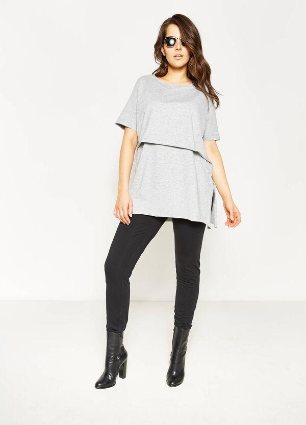 T-shirt stretch con finto doppio Curvy | OVS