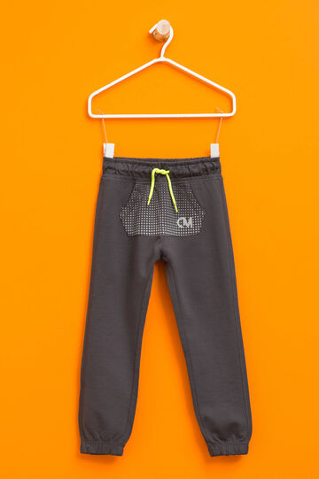 Joggers with pouch pocket, Grey, hi-res