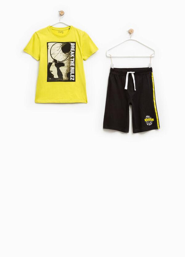 Completo stampato t-shirt bermuda   OVS