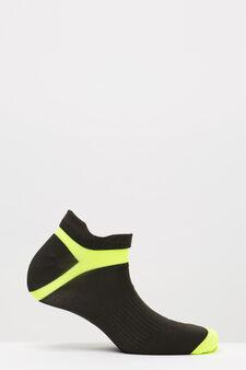 Three-pack stretch socks, Black, hi-res
