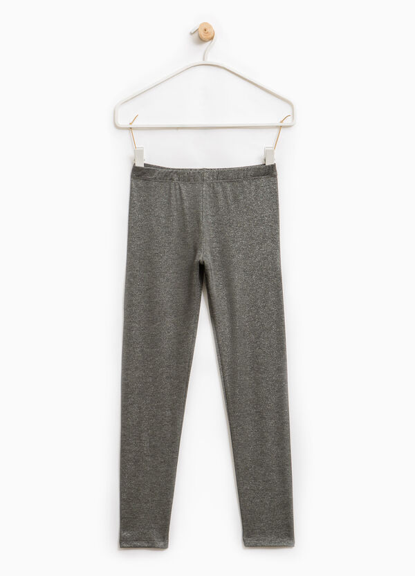 Leggings cotone stretch glitterati | OVS