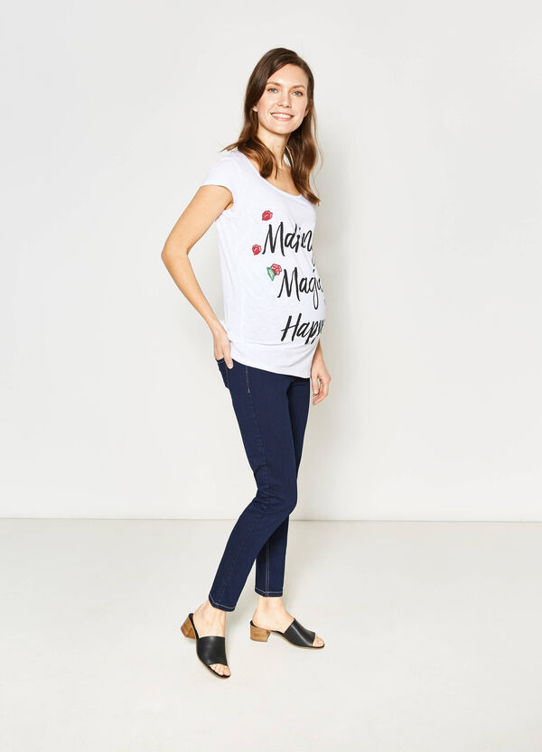 MUM T-shirt with printed lettering | OVS