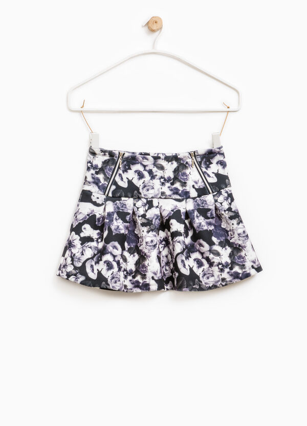 Stretch skirt with floral pattern | OVS