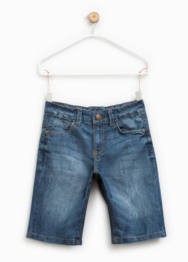Worn-effect denim Bermuda shorts | OVS