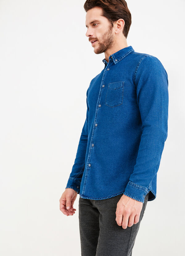 G&H casual denim shirt with pockets | OVS
