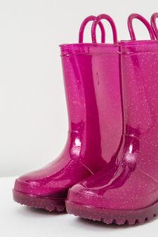 Glitter Wellington boots, Fuchsia, hi-res