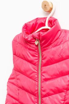 Padded waistcoat with welt pockets, Fuchsia, hi-res