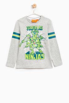 T-shirt puro cotone Tartarughe Ninja, Grigio, hi-res