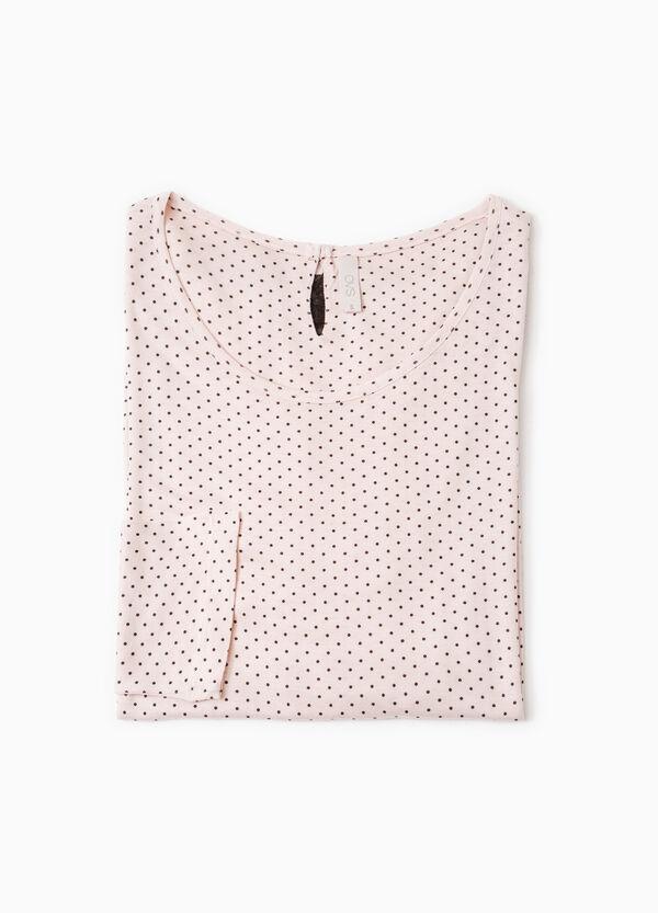 Lace pyjama top with polka dots | OVS