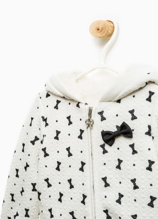 Jacket with all-over bow print | OVS
