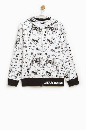 Hoodie with all-over Star Wars print, White, hi-res