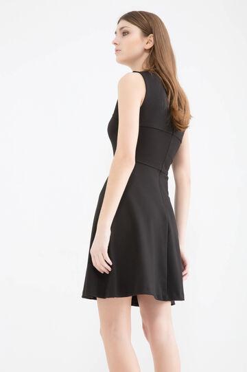 Stretch viscose blend dress, Black, hi-res