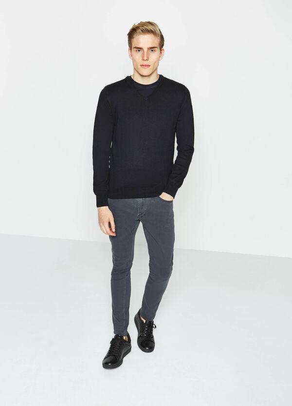 Pantaloni skinny fit in cotone stretch | OVS