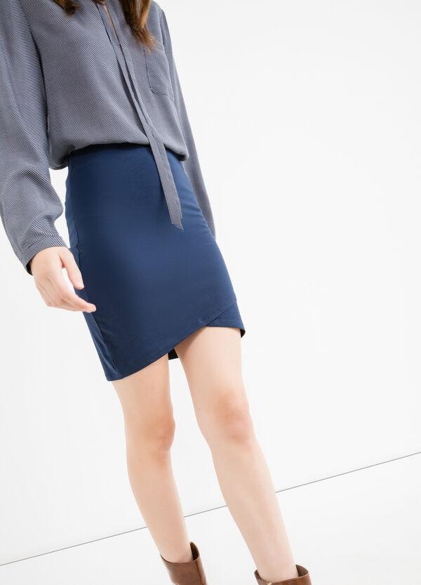 Short skirt in stretch cotton | OVS