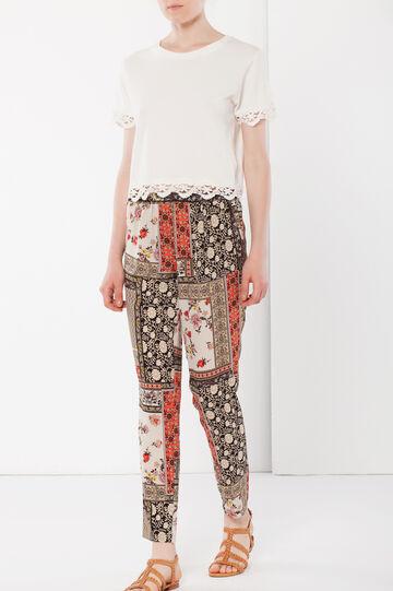 Pantaloni con pinces, Multicolor, hi-res