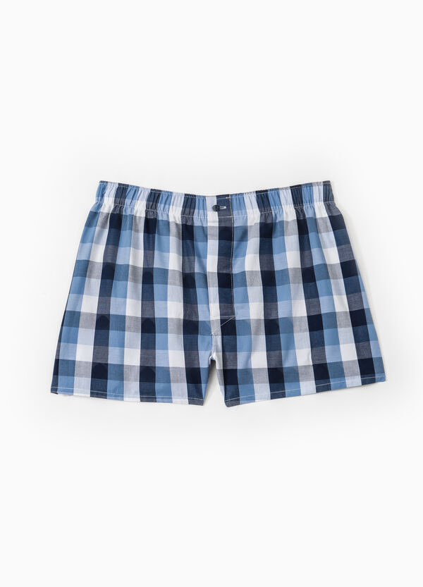 Boxer shorts in 100% cotton with check pattern | OVS