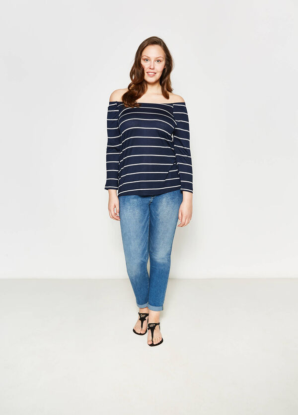 Jeans relaxed fit delavati Curvy | OVS