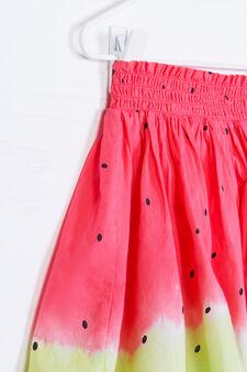 100% cotton watermelon patterned skirt, Multicolour, hi-res