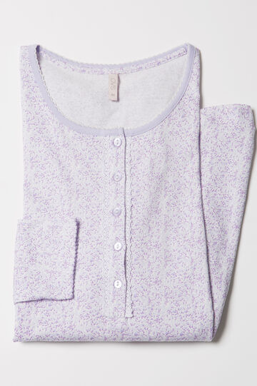 Patterned cotton nightshirt