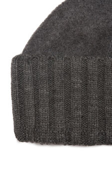 Beanie cap in fleece, Grey Marl, hi-res