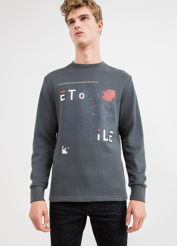 100% cotton sweatshirt with front and back print | OVS
