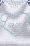 Cotton nightshirt with glitter, White/Blue, hi-res
