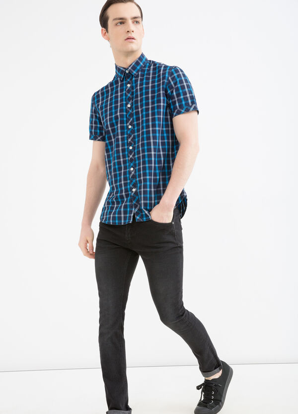 Cotton shirt with check pattern | OVS