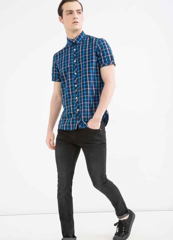Camicia in cotone fantasia quadri | OVS