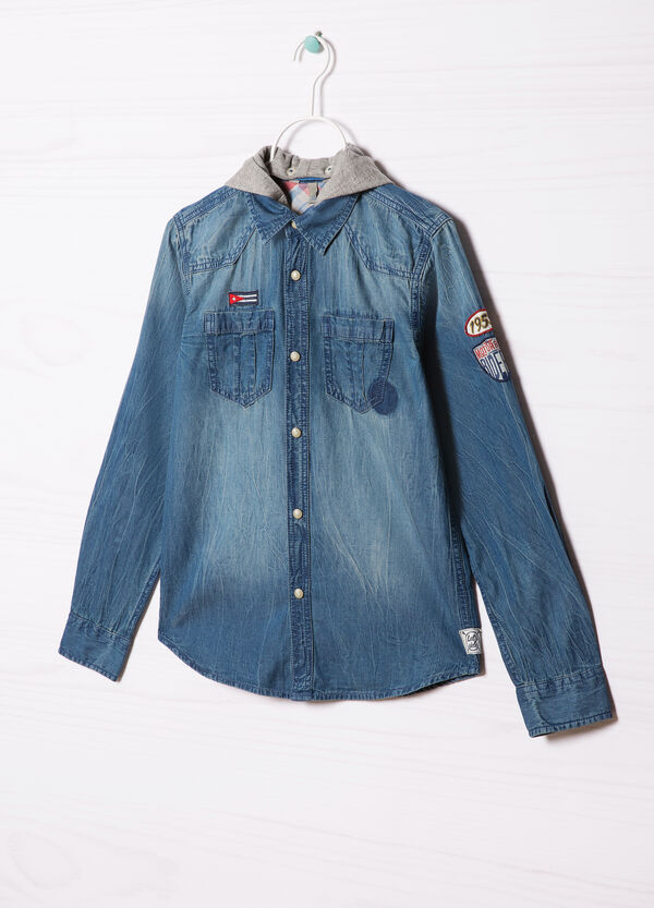 Denim shirt with hood | OVS