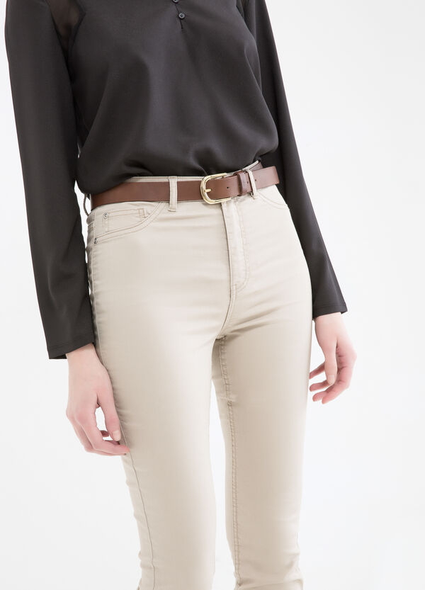 Stretch trousers with high waist | OVS